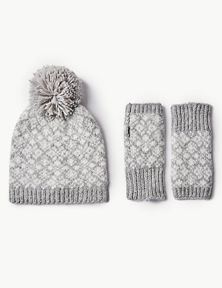 Hat with Gloves Set