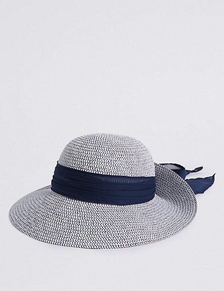Woven Scarf Trim Sun Hat