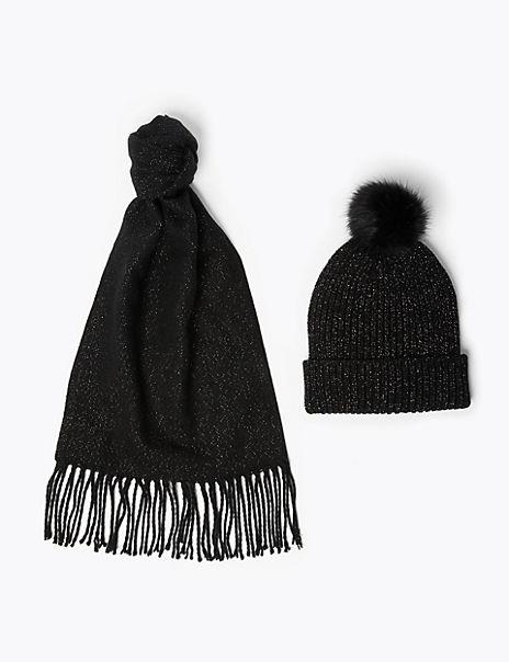 Sparkle Hat & Scarf Set