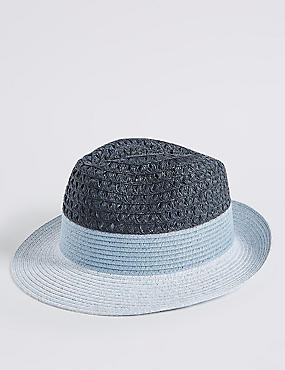 Colour Block Fedora Hat