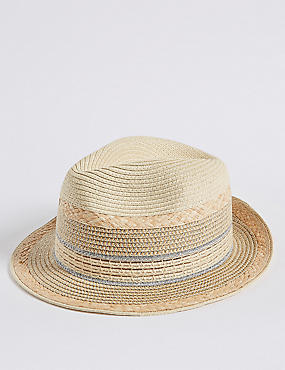 Metallic Trim Trilby Hat