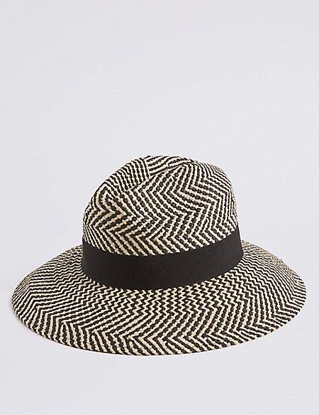 Zig Zag Fedora Hat