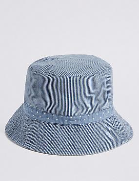 Stripe & Spot Summer Hat