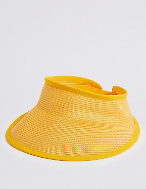 Woven Visor Hat