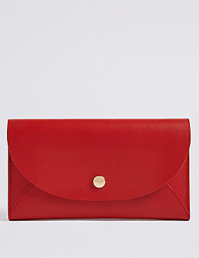 Leather Stud Fold Over Purse M S Collection