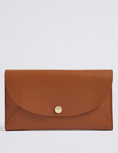 Leather Stud Fold Over Purse