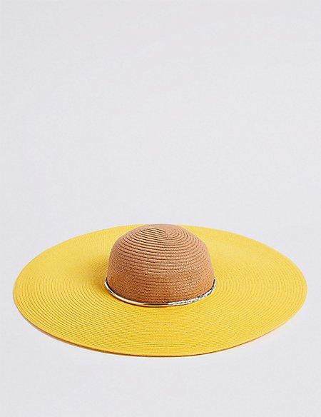 Colour Block Floppy Hat