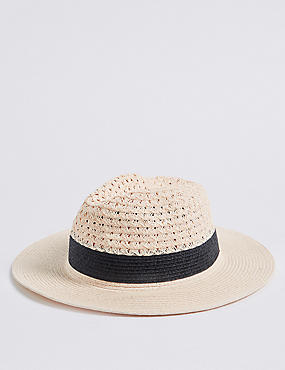 Textured Fedora Sun Hat