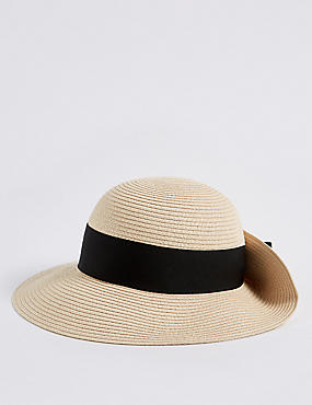 Grosgrain Trim Sun Hat