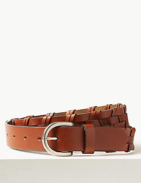 Leather Buckle Hip Belt