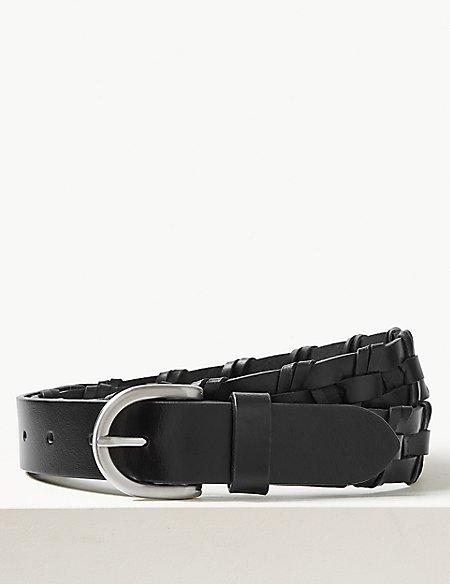 Leather Buckle Hip Belt