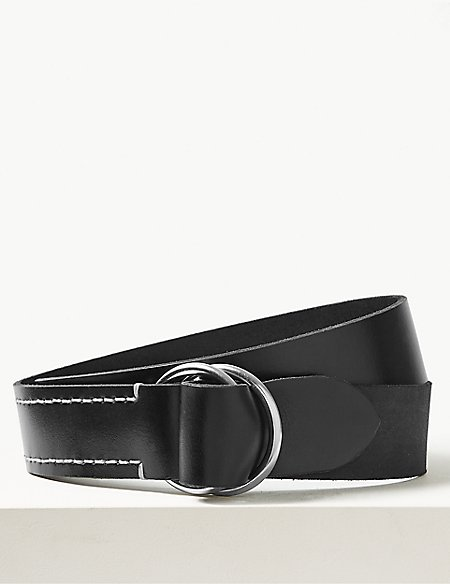 Leather Ring Buckle Hip Belt
