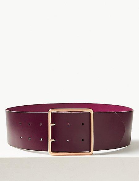 Leather Buckle Waist Belt