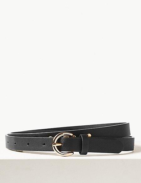 Faux Leather Studded Jeans Hip Belt