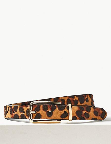Animal Print Jeans Hip Belt