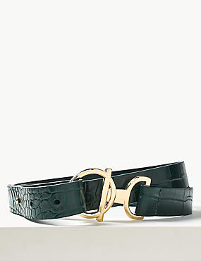 Ring and Bar Buckle Hip Belt