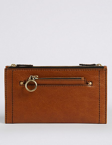 Leather Removable Coin Purse