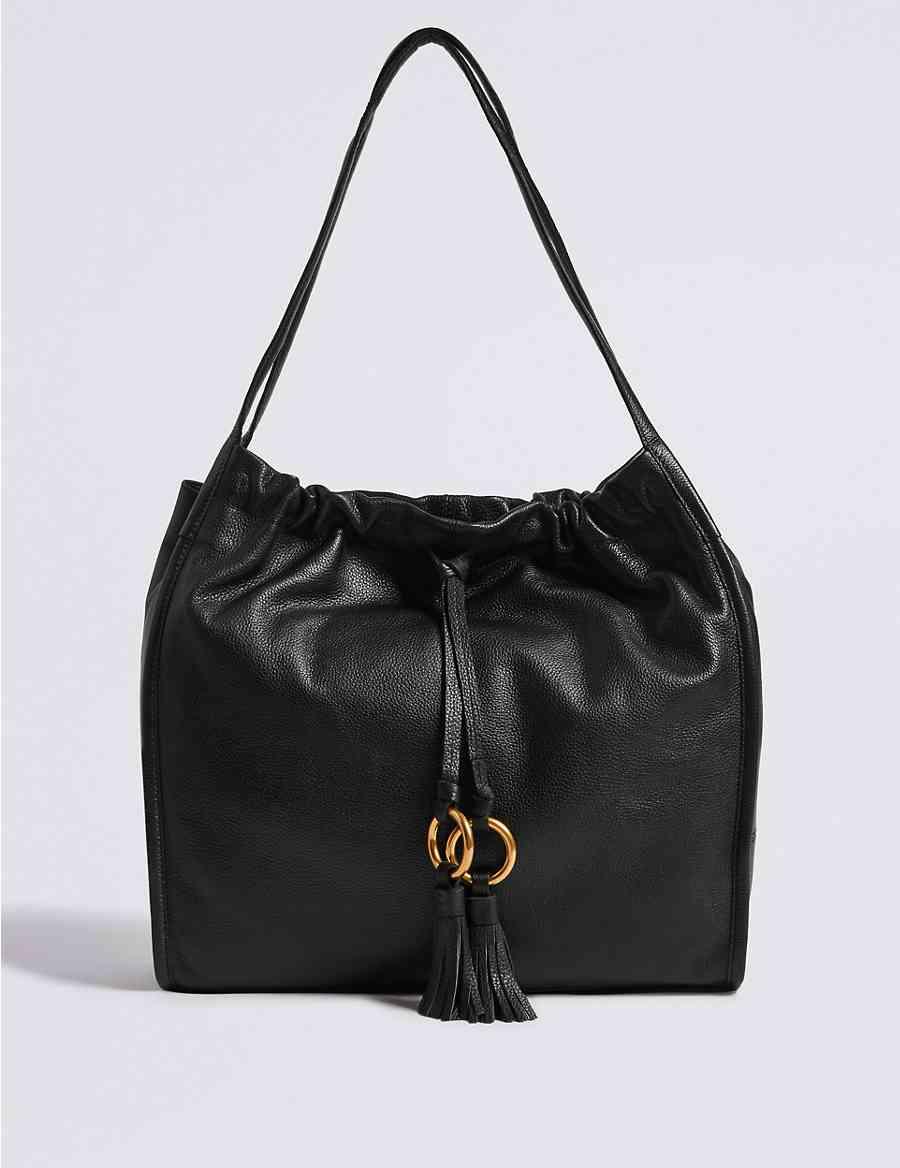 493152a25c Leather Tassel Shoulder Bag