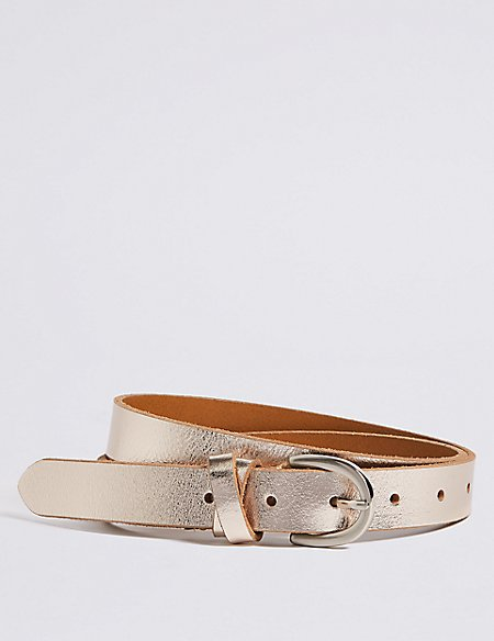 Leather Metallic Hip Belt