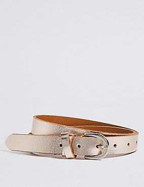 Leather Metallic Hip Belt