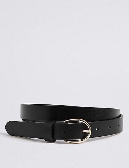 Leather Jeans Hip Belt
