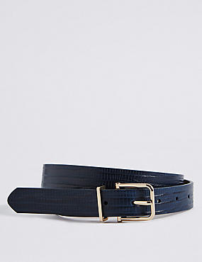 Faux Leather Jeans Hip Belt