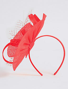 Net Swirl Fascinator Bow