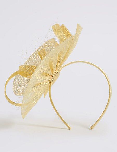 Net Swirl Fascinator Bow