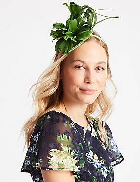 Feather Twisted Bow Fascinator