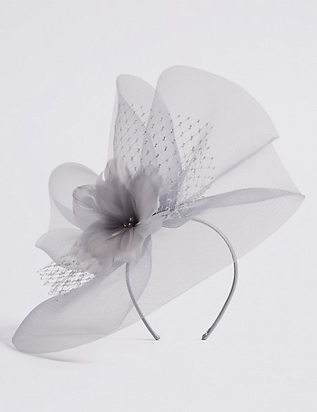 Metallic Net Fascinator