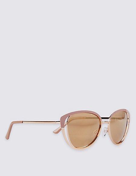 Enamel Cut Oversized Sunglasses