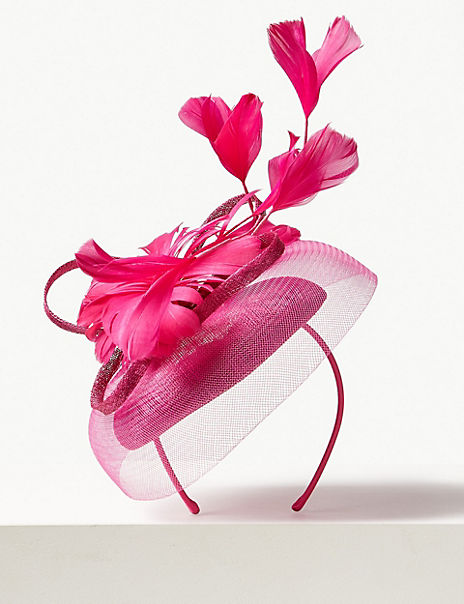 Feather Pillbox Fascinator