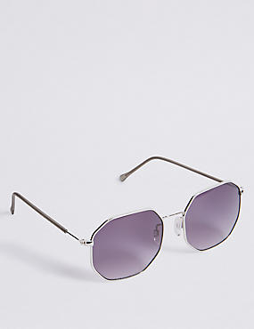 Flat Hexagon Sunglasses