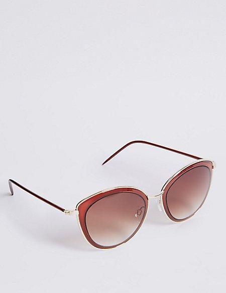 Rim Insert Square Sunglasses