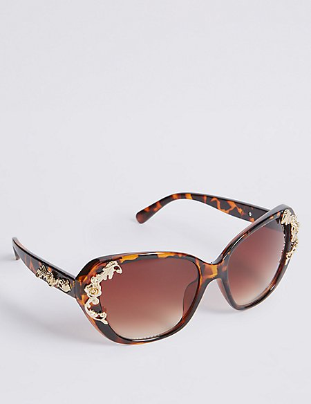 Decorated Cat Eye Sunglasses