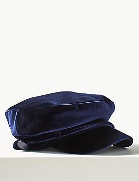 Velvet Baker Boy Hat