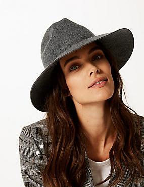 Pure Wool Fedora Hat