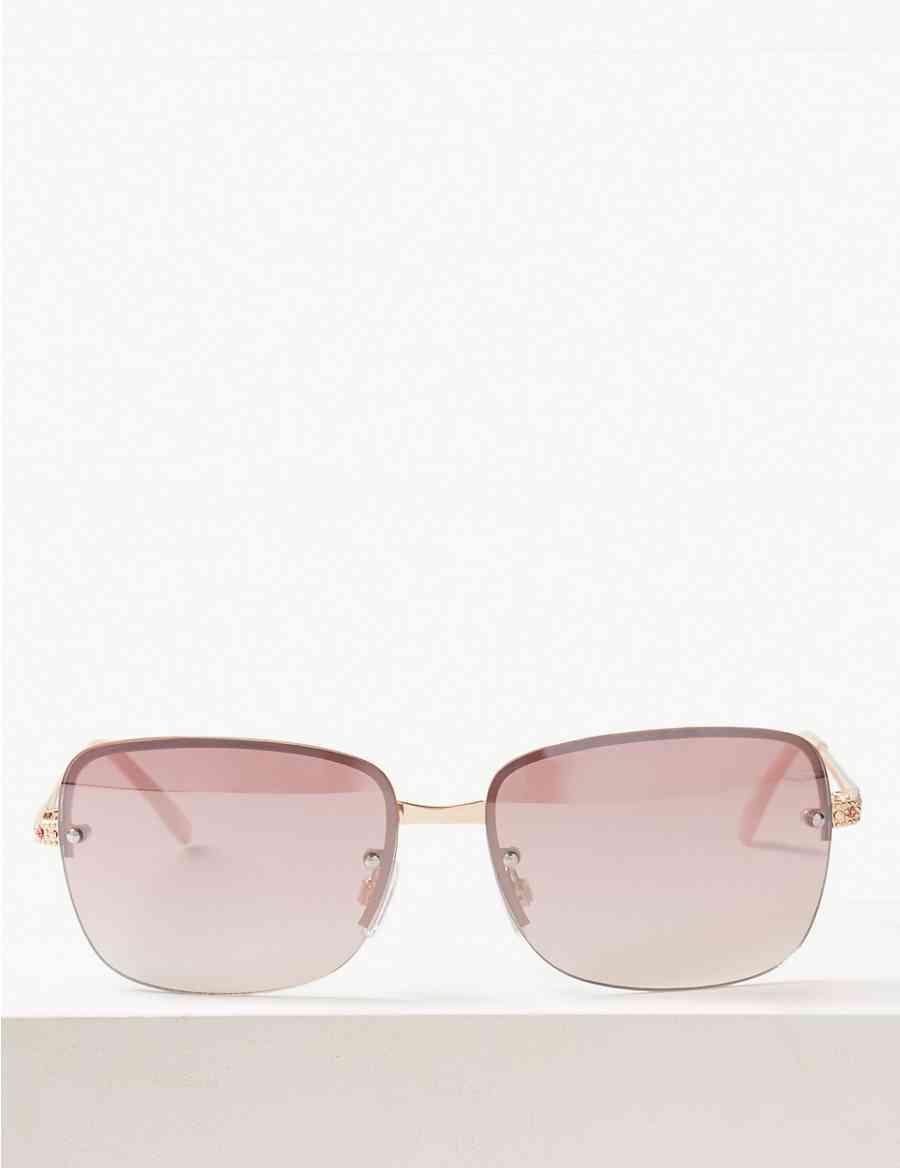 fb5edb75cf Bling Rimless Square Sunglasses