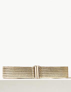Metallic Elasticated Waist Belt