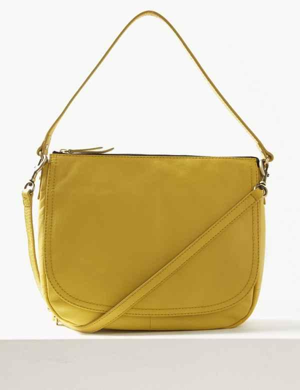 11e94c430bae Leather Saddle Shoulder Bag