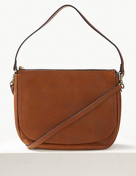 Leather Saddle Shoulder Bag