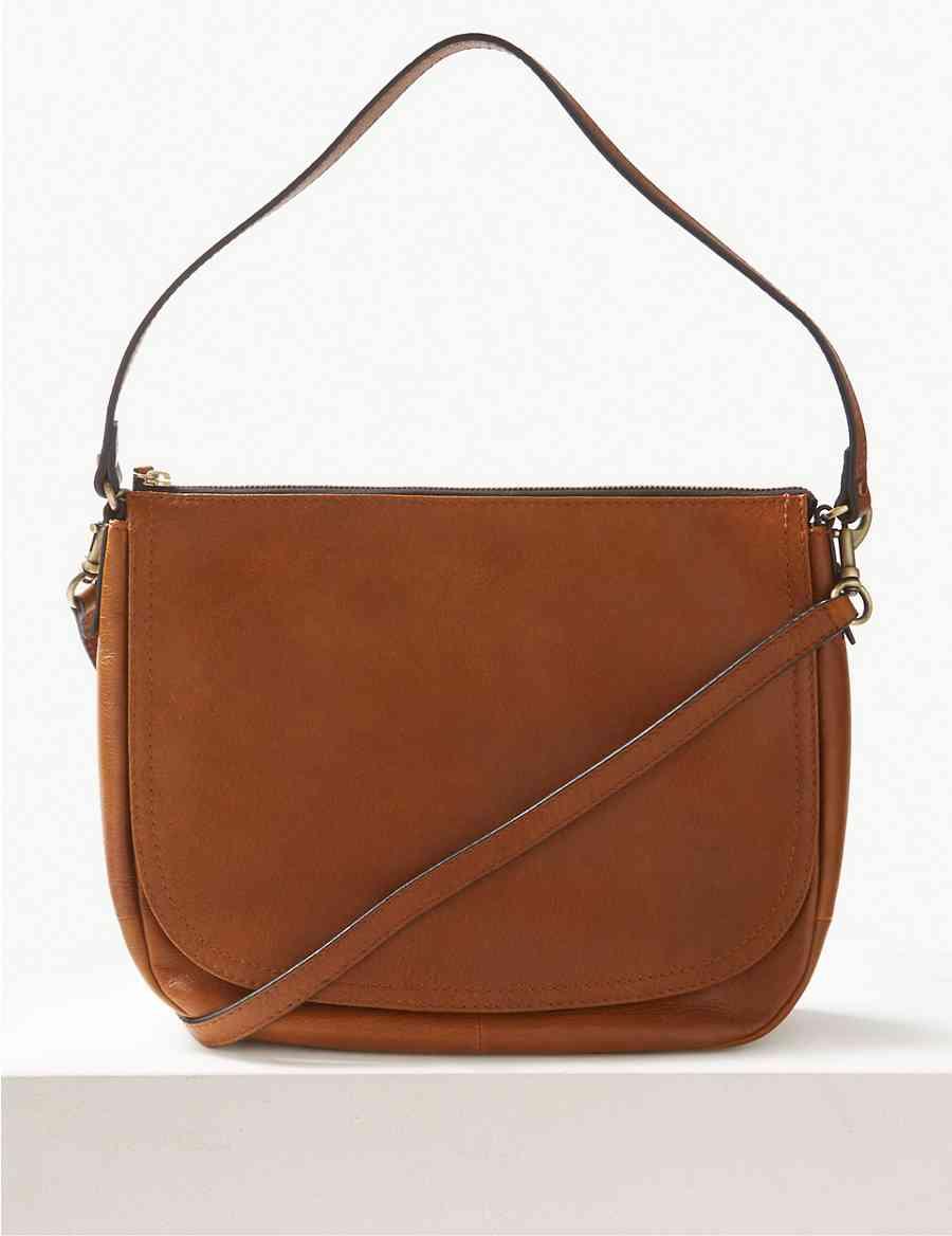 45f121c89bc2 Leather Saddle Shoulder Bag