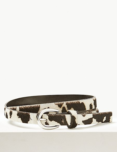 Leather Animal Print Hip Belt