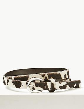 Leather Animal Print Hip Belt
