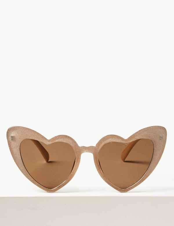 6ab667fdc8 Heart Aviator Sunglasses