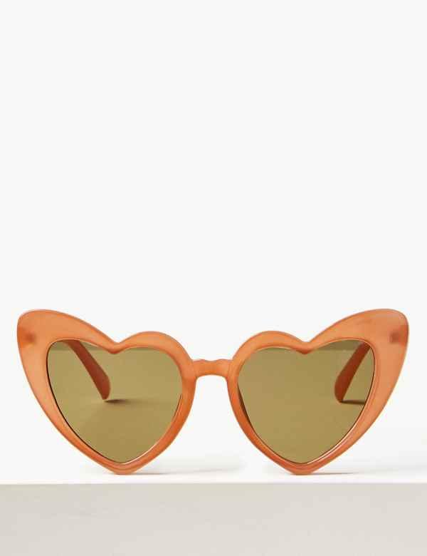 6bc0c849e8 Heart Aviator Sunglasses