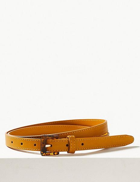 Faux Leather Hip Belt