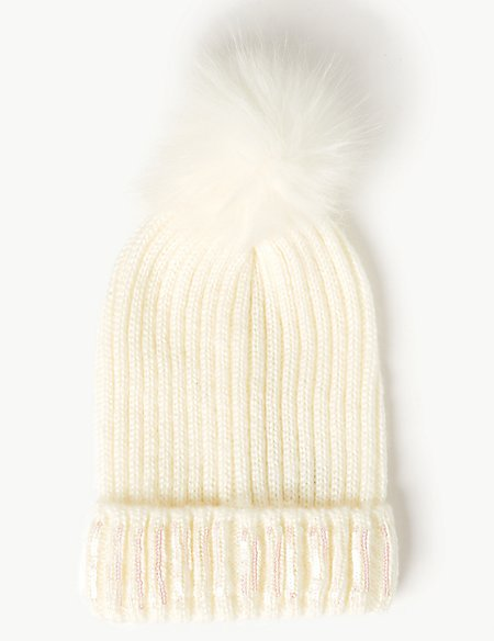 Embellished Sequin Beanie Hat