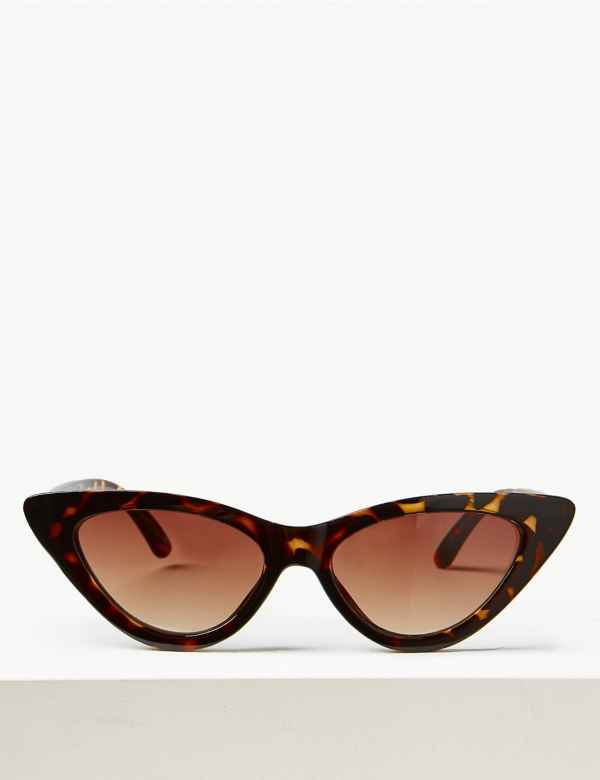349fbedf3429 Narrow Cat Eye Sunglasses. M S Collection