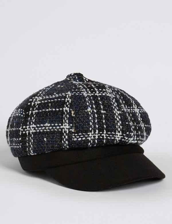 9862566d8da Checked Baker Boy Hat